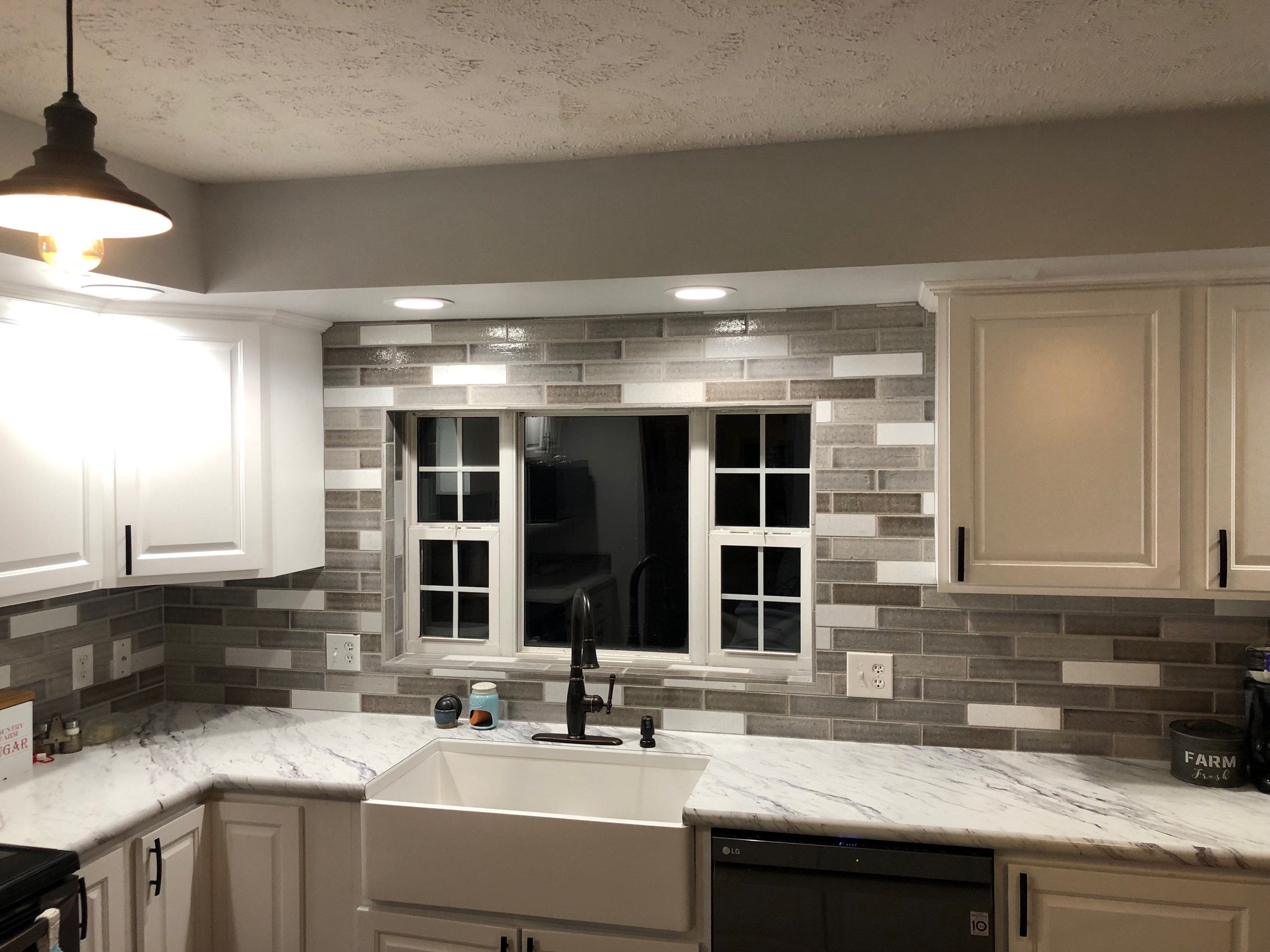 This customer was just as thrilled as we were with the way their backsplash turned out...beautiful!