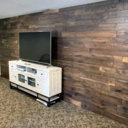 Beautiful Hardwood Floors Installed on The Wall - Bounds Flooring