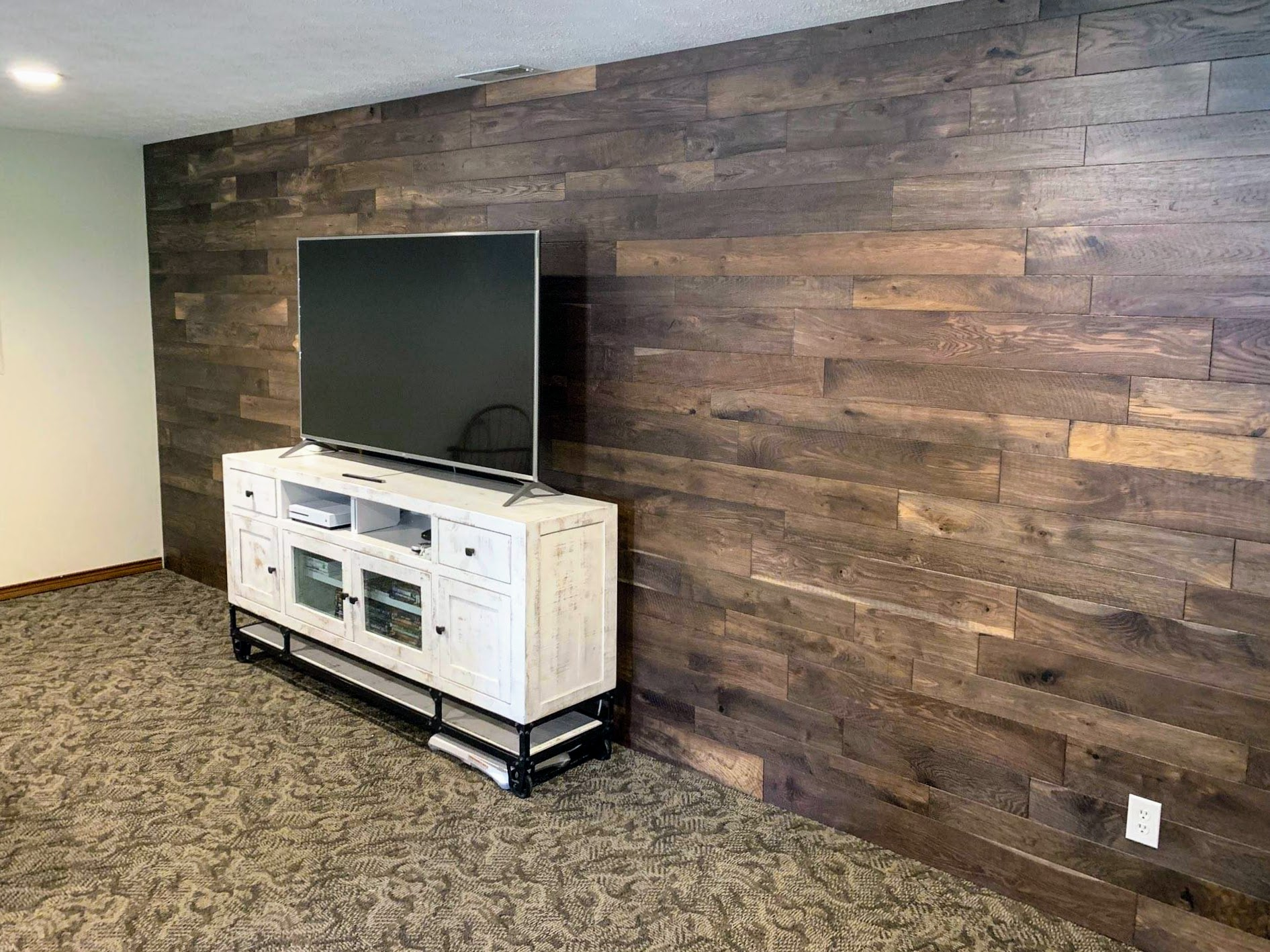 Look At This Beautiful Hardwood Flooring Installed On The Wall