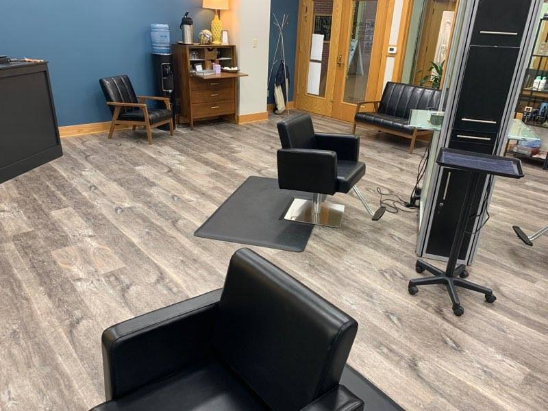 Luxury Vinyl Plank Flooring Installed at Bloomington Beauty Shop