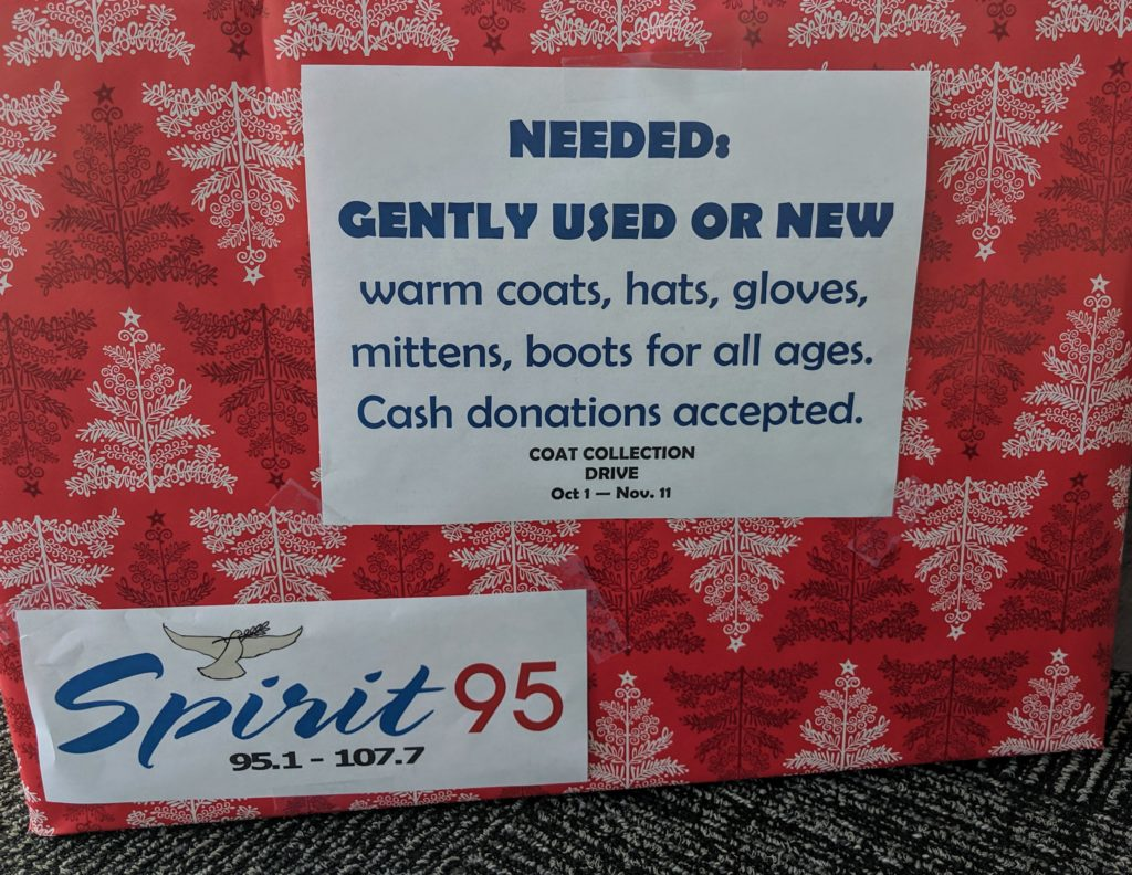 Photo of Flyer Announcing Gently Used Item Donation Drive